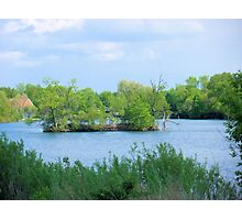 On a Small Island in a Small Pond in a Big World  Photographic Print