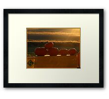 Orange Sunshine Framed Print