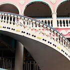 Staircase at the Royal Plaza  by John  Kapusta