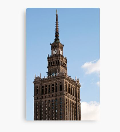 Palace of Culture and Science. Canvas Print