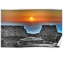 Sunset at Bottallack Mines Poster