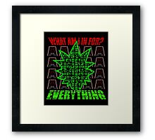 What are you in for? Framed Print