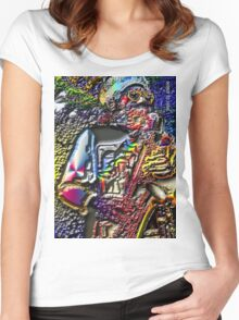 SAX ON THE BARBY Women's Fitted Scoop T-Shirt