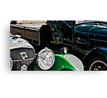 Vintage Green Reflections Canvas Print