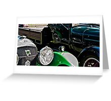 Vintage Green Reflections Greeting Card