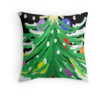 """Oy, Tannenbaum"" Throw Pillow"
