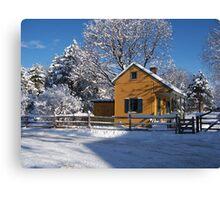 Landis Valley Tin Shop Winter Canvas Print