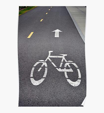 Bicycle lane. Poster