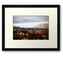Autumn Color in Mountain Mist Framed Print