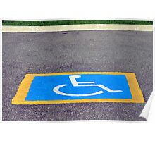 Handicapped reserved parking. Poster
