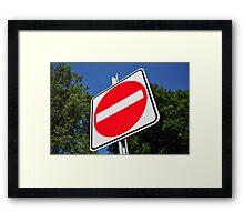 Do not enter sign. Framed Print