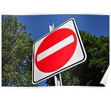 Do not enter sign. Poster