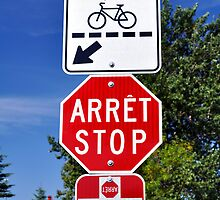 Stop and crossing signs. by FER737NG