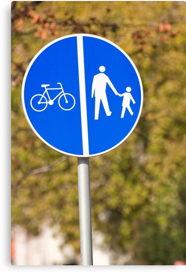 Pedestrian and bicycle crossing sign. by FER737NG