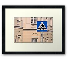 Pedestrian crossing sign. Framed Print