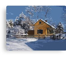 Landis Valley Tin Shop Winter Paint II Canvas Print