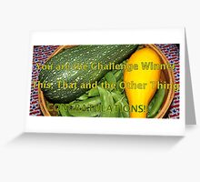 Challenge  Winner banner - veggies Greeting Card