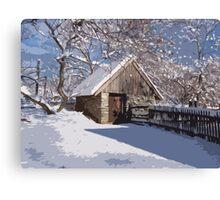Landis Valley Chicken Coop Winter Paint Canvas Print