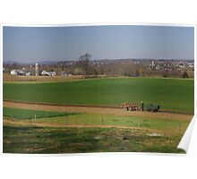 Lancaster county farm and farmer Poster