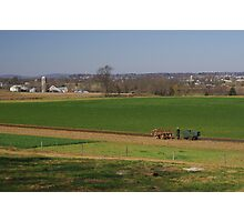 Lancaster county farm and farmer Photographic Print