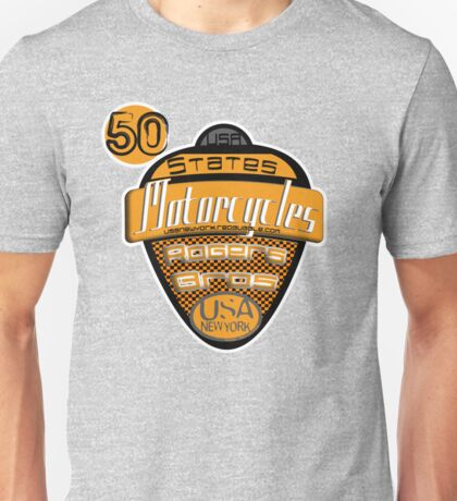 50 states of usa motorcycles by rogers bros Unisex T-Shirt