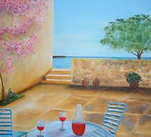 Mediterranean Courtyard by Melissa Pinner
