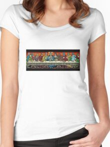 last supper of the lucha Women's Fitted Scoop T-Shirt