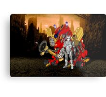 Upgraded Dalek with the robot master Metal Print