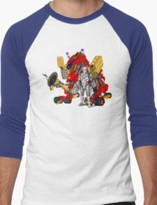 Upgraded Dalek with the robot master Men's Baseball ¾ T-Shirt