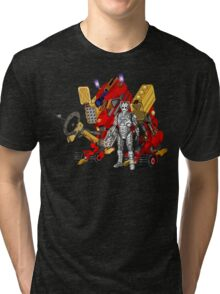 Upgraded Dalek with the robot master Tri-blend T-Shirt