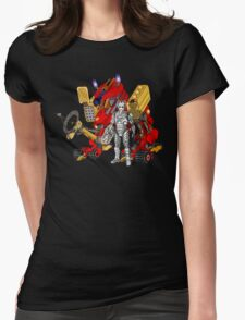 Upgraded Dalek with the robot master Womens T-Shirt