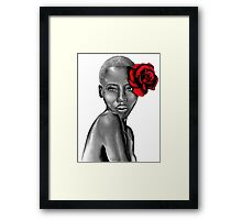 Uzuri ~ Red Framed Print