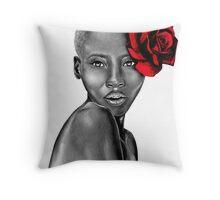 Uzuri ~ Red Throw Pillow