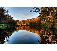 Autumnal Riverbank Photographic Print