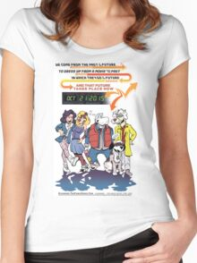 Future Day Halloween Dress up Back to The Future Women's Fitted Scoop T-Shirt