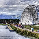 Kelpies and Canal by Tom Gomez
