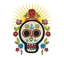 The print of Day of the Dead by Olga Matskevich