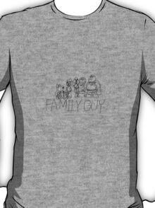 Family Pencil Sketch T-Shirt