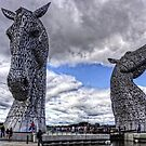 Kelpies under Rain Clouds by Tom Gomez