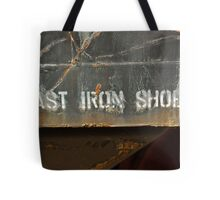 Cast Iron Shoes Tote Bag