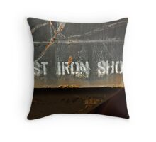 Cast Iron Shoes Throw Pillow