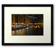 Chicago After Dark Framed Print