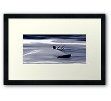 Kitesurfing - Riding the Waves in a Blur of Speed Framed Print