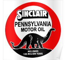 Sinclair Motor Oil vintage sign reproduction. Flat version Poster