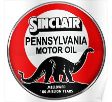 Sinclair Motor Oil vintage sign reproduction. Crystal version Poster