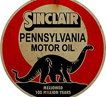 Sinclair Motor Oil vintage sign reproduction. Rusted version by htrdesigns