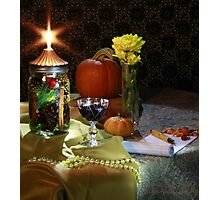 Autumn Notes with Wine Photographic Print