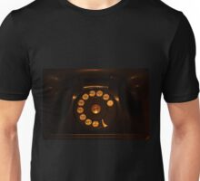 Black Rotary Phone Unisex T-Shirt