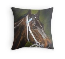 Black Caviar, ...A legend in the making Throw Pillow