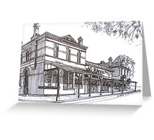 Buninyong: former Whykes Butchers, John Adam's store, National Bank building. Greeting Card